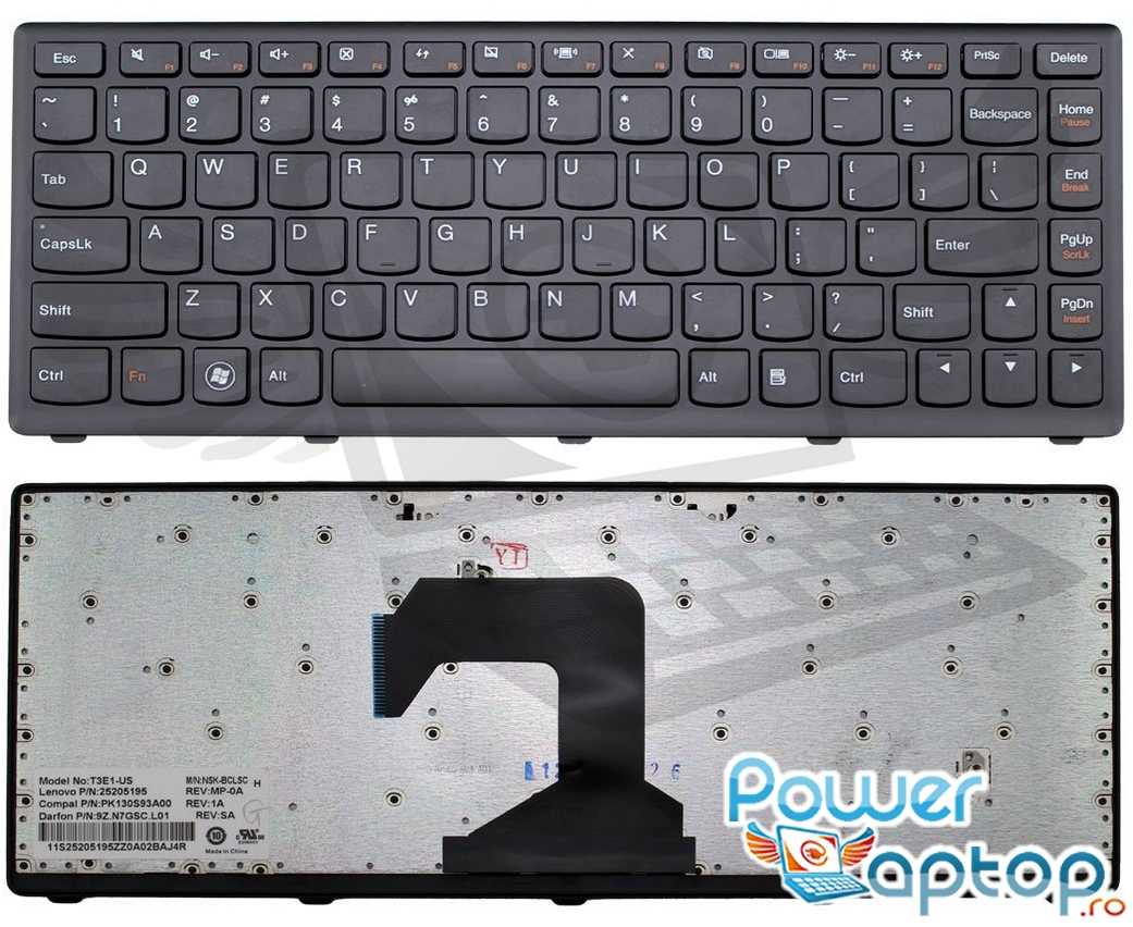 Tastatura Lenovo IdeaPad S300 ITH Rama Neagra imagine