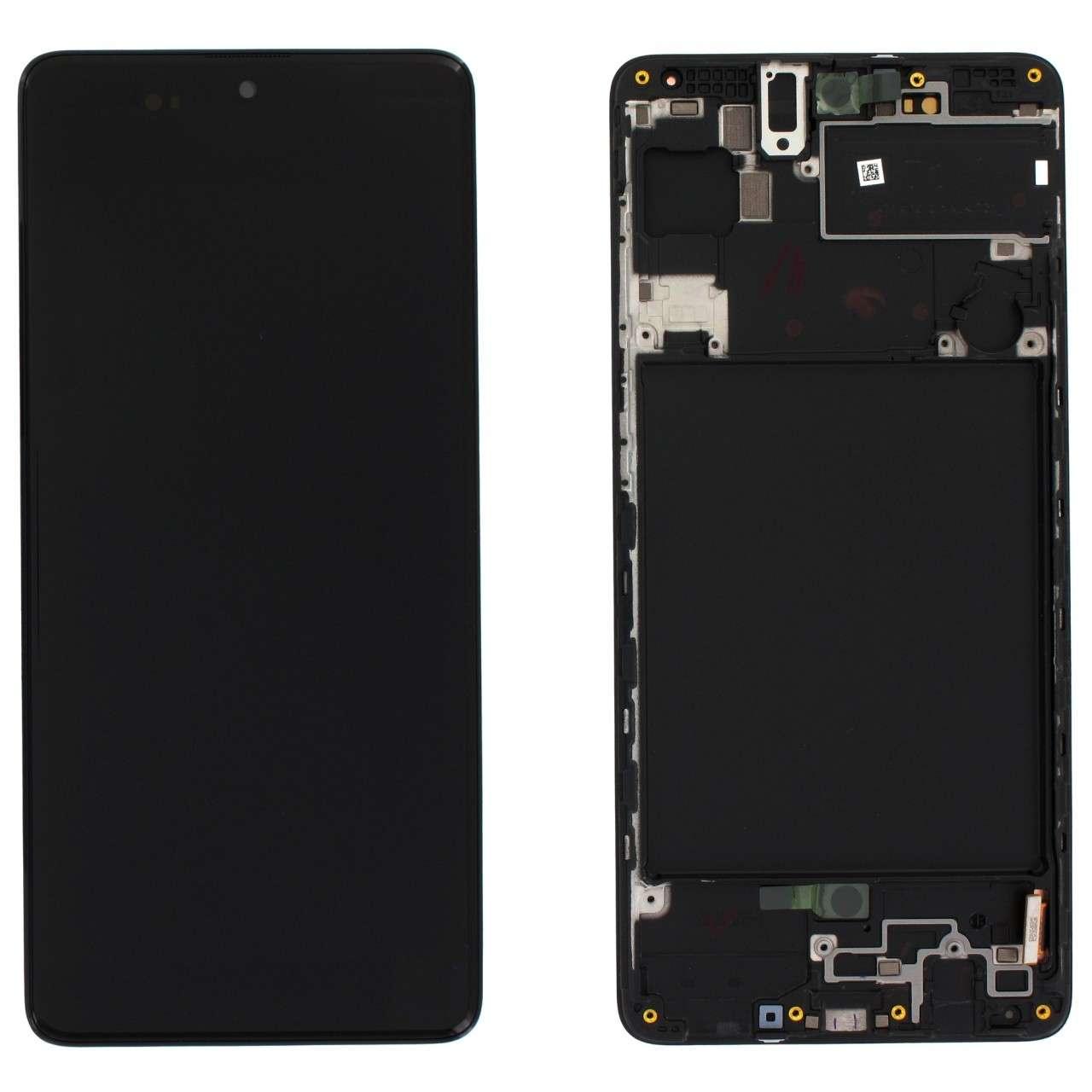 Display Samsung Galaxy A71 A715 Display Original Service Pack Black Negru imagine