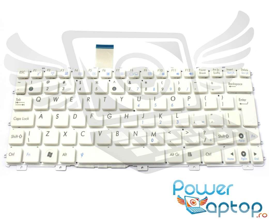 Tastatura alba Asus Eee PC X101 layout UK fara rama enter mare