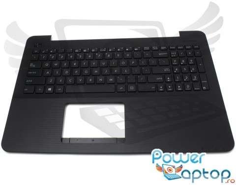 Tastatura Asus  X555LN cu Palmrest negru. Keyboard Asus  X555LN cu Palmrest negru. Tastaturi laptop Asus  X555LN cu Palmrest negru. Tastatura notebook Asus  X555LN cu Palmrest negru