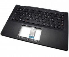 Tastatura Lenovo Yoga 500-14ISK Neagra cu Palmrest negru iluminata backlit. Keyboard Lenovo Yoga 500-14ISK Neagra cu Palmrest negru. Tastaturi laptop Lenovo Yoga 500-14ISK Neagra cu Palmrest negru. Tastatura notebook Lenovo Yoga 500-14ISK Neagra cu Palmrest negru