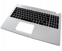 Tastatura Asus  X551MAV neagra cu Palmrest alb. Keyboard Asus  X551MAV neagra cu Palmrest alb. Tastaturi laptop Asus  X551MAV neagra cu Palmrest alb. Tastatura notebook Asus  X551MAV neagra cu Palmrest alb