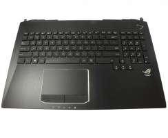 Tastatura Asus G750JH iluminata cu Palmrest negru si Touchpad. Keyboard Asus G750JH iluminata cu Palmrest negru si Touchpad. Tastaturi laptop Asus G750JH iluminata cu Palmrest negru si Touchpad. Tastatura notebook Asus G750JH iluminata cu Palmrest negru si Touchpad