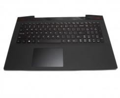Tastatura Lenovo  Y50 70 neagra cu Palmrest negru iluminata backlit