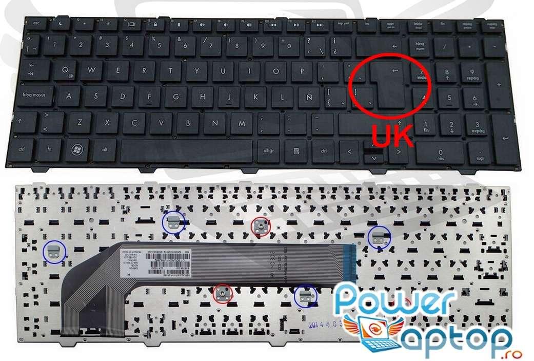 Tastatura HP ProBook 4740S layout UK fara rama enter mare imagine