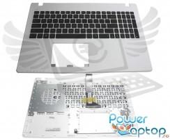 Tastatura Asus  X552WA neagra cu Palmrest alb. Keyboard Asus  X552WA neagra cu Palmrest alb. Tastaturi laptop Asus  X552WA neagra cu Palmrest alb. Tastatura notebook Asus  X552WA neagra cu Palmrest alb