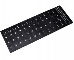 Sticker tastatura laptop layout Spaniola negru. Sticker taste laptop layout Spaniola negru