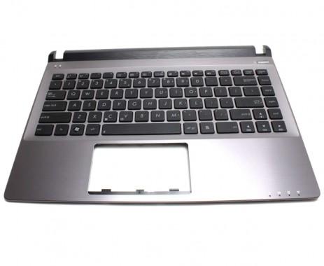 Tastatura Asus U32JC neagra cu Palmrest gri. Keyboard Asus U32JC neagra cu Palmrest gri. Tastaturi laptop Asus U32JC neagra cu Palmrest gri. Tastatura notebook Asus U32JC neagra cu Palmrest gri