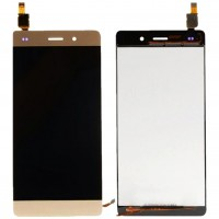 Ansamblu Display LCD + Touchscreen Huawei Ascend P8 Lite 2015 ALE-L04 Gold Auriu . Ecran + Digitizer Huawei Ascend P8 Lite 2015 ALE-L04 Gold Auriu
