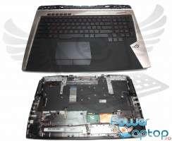 Tastatura Asus  GX700V neagra cu Palmrest negru iluminata backlit. Keyboard Asus  GX700V neagra cu Palmrest negru. Tastaturi laptop Asus  GX700V neagra cu Palmrest negru. Tastatura notebook Asus  GX700V neagra cu Palmrest negru