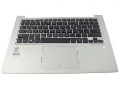 Tastatura Asus 0KN0-MY1US23 neagra cu Palmrest argintiu si Touchpad. Keyboard Asus 0KN0-MY1US23 neagra cu Palmrest argintiu  si Touchpad. Tastaturi laptop Asus 0KN0-MY1US23 neagra cu Palmrest argintiu  si Touchpad. Tastatura notebook Asus 0KN0-MY1US23 neagra cu Palmrest argintiu  si Touchpad