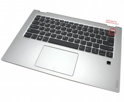 Palmrest Lenovo 9Z.NDSSN.001. Carcasa Superioara Lenovo 9Z.NDSSN.001 Argintiu cu tastatura si touchpad inclus