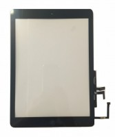 Digitizer Touchscreen Apple iPad Air A1475 A1474 cu buton home si adeziv Negru. Geam Sticla Tableta Apple iPad Air A1475 A1474 cu buton home si adeziv Negru