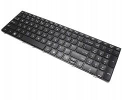 Tastatura HP ProBook 4535S neagra cu rama neagra. Keyboard HP ProBook 4535S neagra cu rama neagra. Tastaturi laptop HP ProBook 4535S neagra cu rama neagra. Tastatura notebook HP ProBook 4535S neagra cu rama neagra