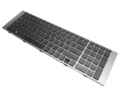 Tastatura HP 4740s neagra cu Rama gri. Keyboard HP 4740s neagra cu Rama gri. Tastaturi laptop HP 4740s neagra cu Rama gri. Tastatura notebook HP 4740s neagra cu Rama gri