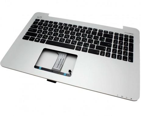 Tastatura Asus V555L neagra cu Palmrest argintiu. Keyboard Asus V555L neagra cu Palmrest argintiu. Tastaturi laptop Asus V555L neagra cu Palmrest argintiu. Tastatura notebook Asus V555L neagra cu Palmrest argintiu