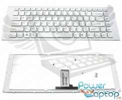 Tastatura Sony Vaio VPC EG alba. Keyboard Sony Vaio VPC EG alba. Tastaturi laptop Sony Vaio VPC EG alba. Tastatura notebook Sony Vaio VPC EG alba