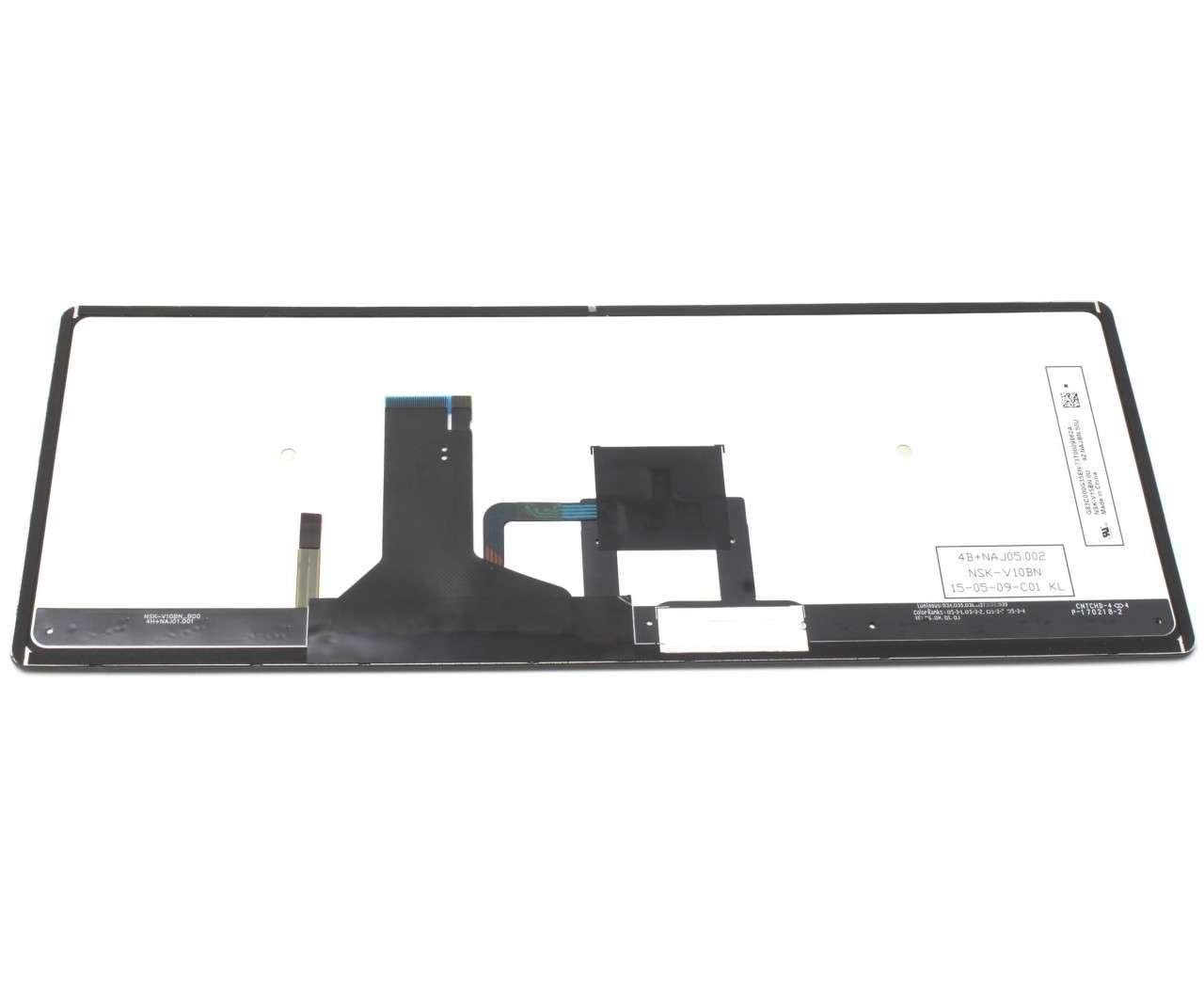 Tastatura Toshiba Portege Z30 B 121 Rama gri iluminata backlit imagine powerlaptop.ro 2021