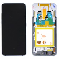 Display Samsung Galaxy A80 A805 A805F Display Original Service Pack Silver Argintiu. Ecran Samsung Galaxy J6 2018 J600 Display Original Service Pack Silver Argintiu