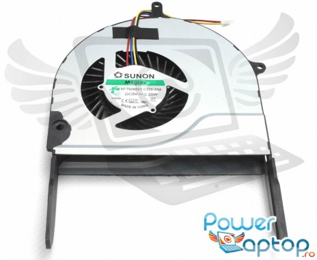 Cooler laptop Asus ROG N751JK. Ventilator procesor Asus ROG N751JK. Sistem racire laptop Asus ROG N751JK