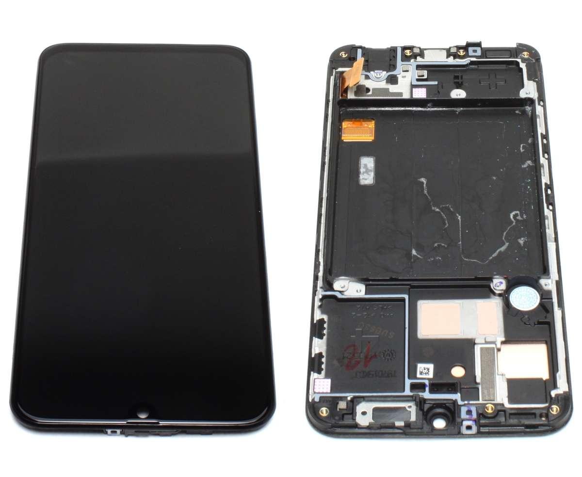 Display Samsung Galaxy A40 A405F OLED Service Pack Original Black Negru imagine powerlaptop.ro 2021
