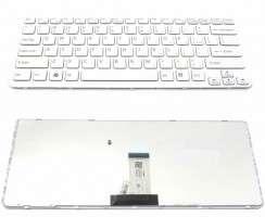 Tastatura Sony Vaio SVE14 series alba. Keyboard Sony Vaio SVE14 series alba. Tastaturi laptop Sony Vaio SVE14 series alba. Tastatura notebook Sony Vaio SVE14 series alba