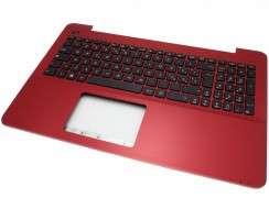 Tastatura Asus  13N0-?R8A0601 Neagra cu Palmrest rosu. Keyboard Asus  13N0-?R8A0601 Neagra cu Palmrest rosu. Tastaturi laptop Asus  13N0-?R8A0601 Neagra cu Palmrest rosu. Tastatura notebook Asus  13N0-?R8A0601 Neagra cu Palmrest rosu