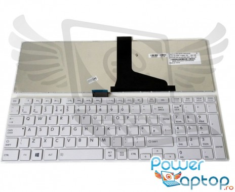Tastatura Toshiba Satellite C855 Alba. Keyboard Toshiba Satellite C855 Alba. Tastaturi laptop Toshiba Satellite C855 Alba. Tastatura notebook Toshiba Satellite C855 Alba