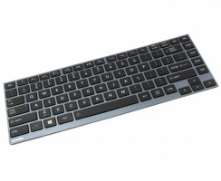 Tastatura Toshiba  AEBU6200020 YU Rama albastra iluminata backlit. Keyboard Toshiba  AEBU6200020 YU Rama albastra. Tastaturi laptop Toshiba  AEBU6200020 YU Rama albastra. Tastatura notebook Toshiba  AEBU6200020 YU Rama albastra