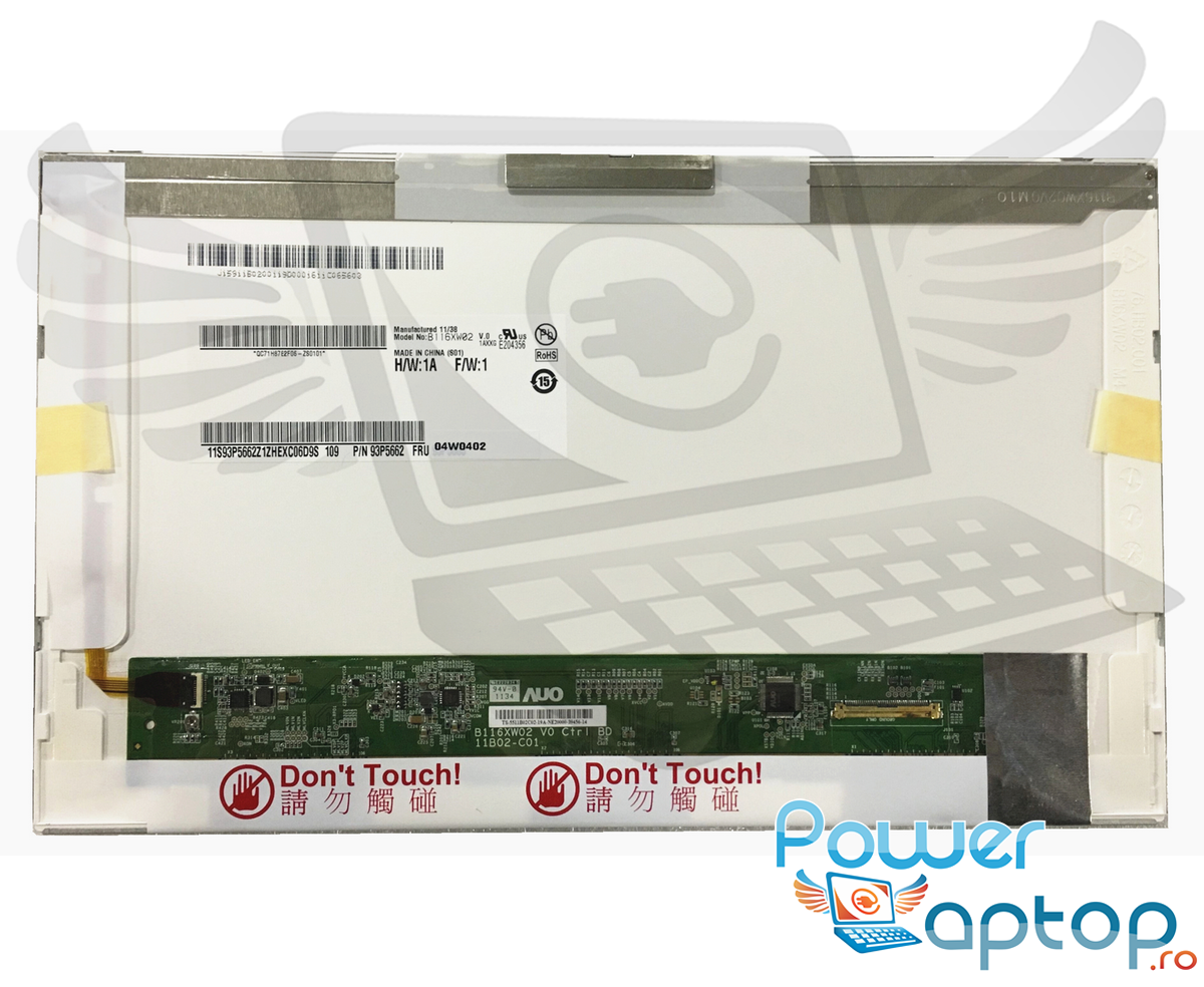 Display laptop Toshiba Satellite T215D Ecran 11.6 1366x768 40 pini led lvds imagine powerlaptop.ro 2021