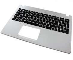 Tastatura Asus  R512MAV neagra cu Palmrest alb. Keyboard Asus  R512MAV neagra cu Palmrest alb. Tastaturi laptop Asus  R512MAV neagra cu Palmrest alb. Tastatura notebook Asus  R512MAV neagra cu Palmrest alb