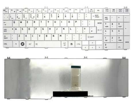 Tastatura Toshiba Satellite L750 alba. Keyboard Toshiba Satellite L750 alba. Tastaturi laptop Toshiba Satellite L750 alba. Tastatura notebook Toshiba Satellite L750 alba