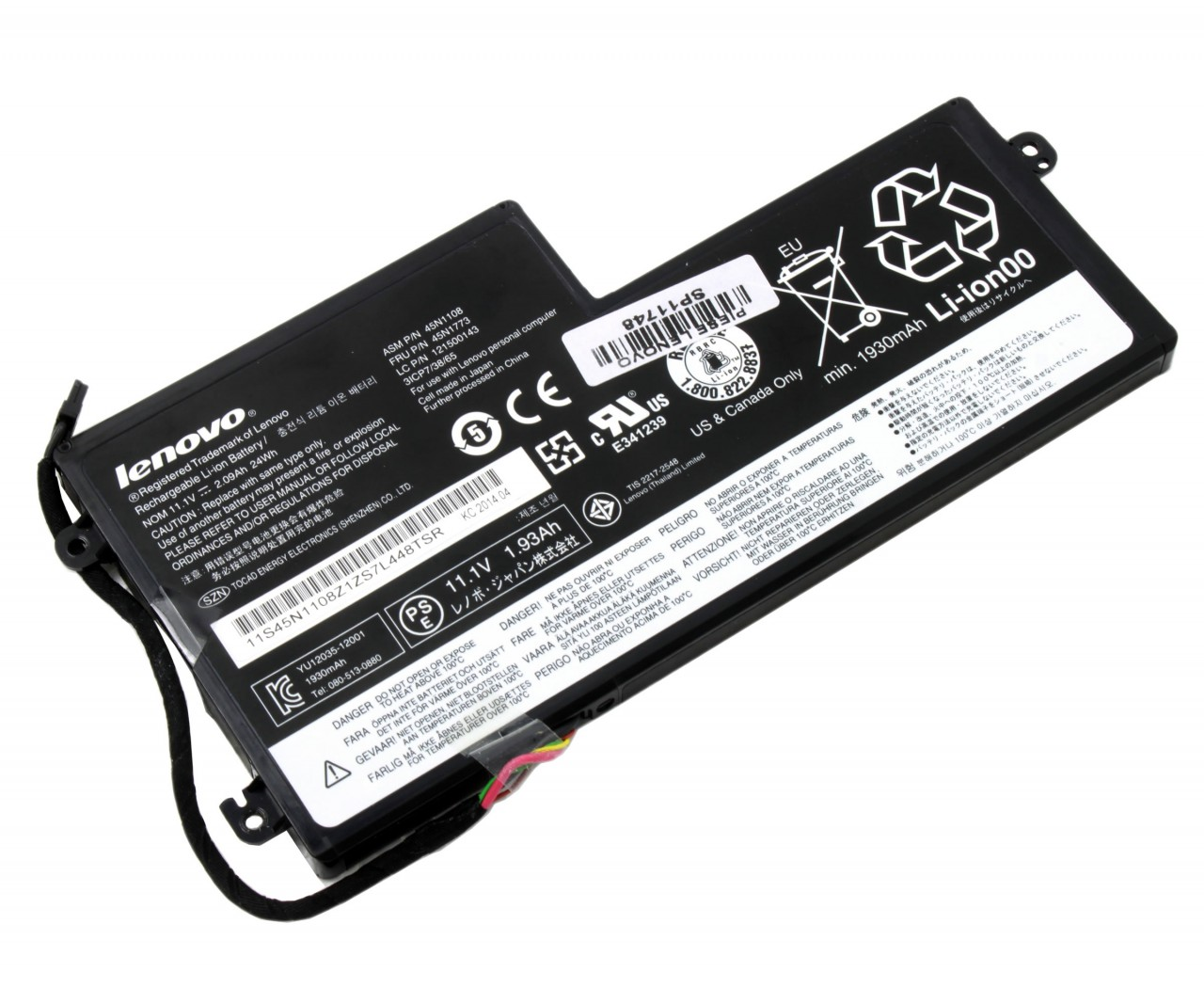 Baterie Lenovo ThinkPad T530 2394 Originala 24Wh imagine powerlaptop.ro 2021