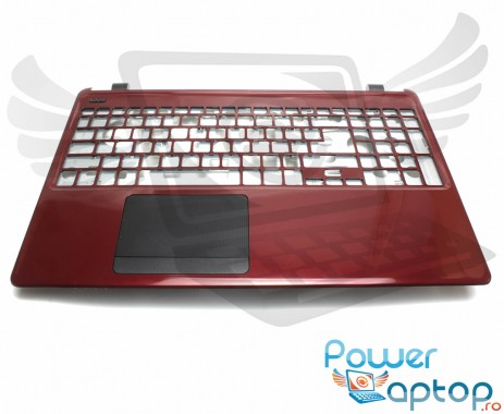 Palmrest Acer Travelmate TMP255 MP. Carcasa Superioara Acer Travelmate TMP255 MP Visiniu cu touchpad inclus