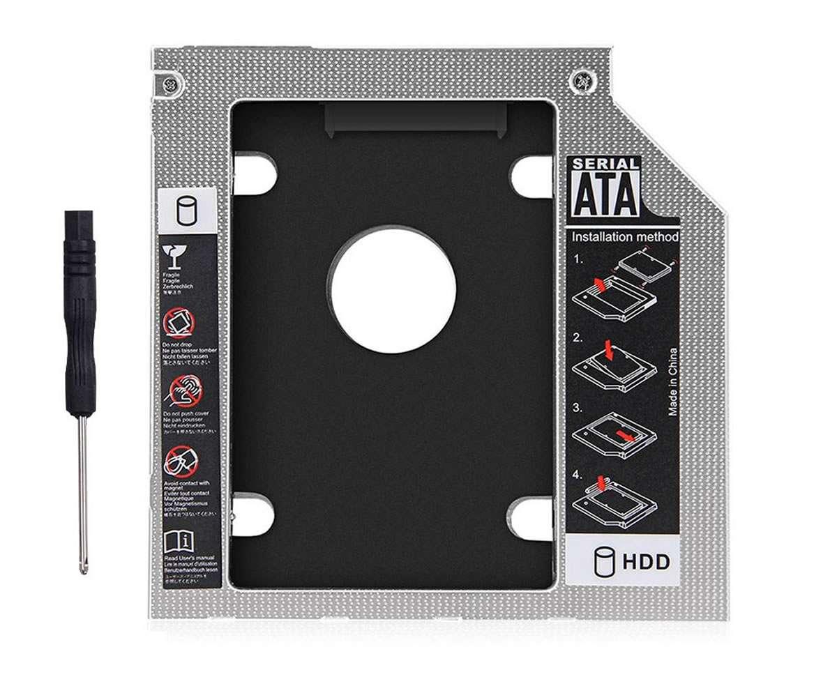 HDD Caddy laptop 9.5mm intern SATA extern SATA Slim imagine powerlaptop.ro 2021