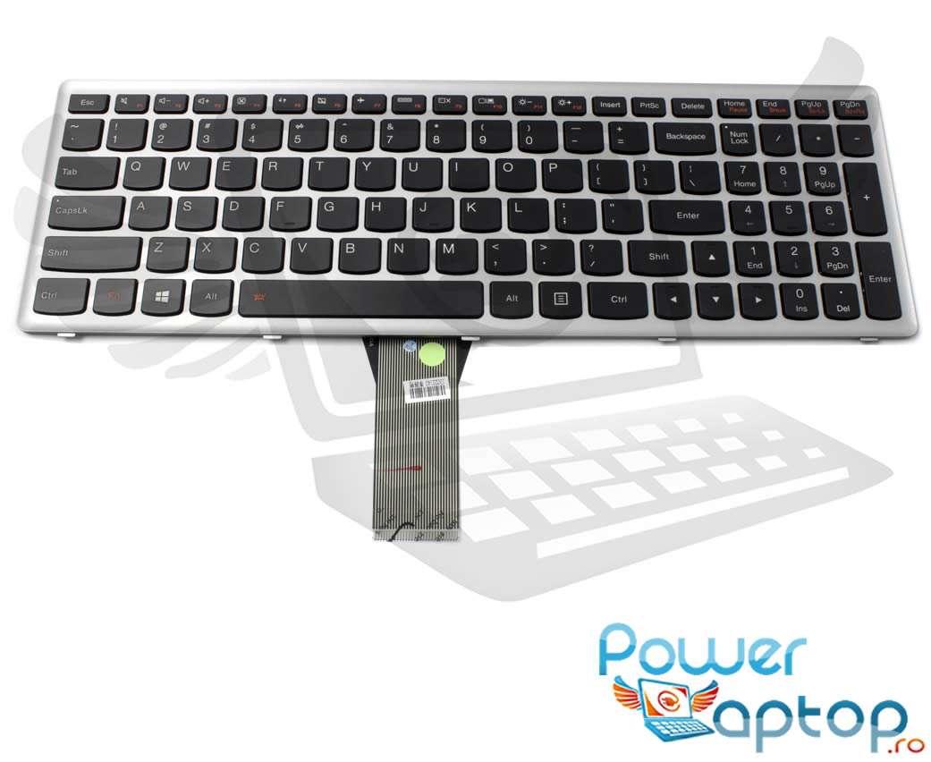 Tastatura Lenovo 25213019 rama gri iluminata backlit imagine powerlaptop.ro 2021