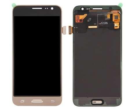 Ansamblu Display LCD + Touchscreen Samsung Galaxy J3 2016 J320G Gold Auriu . Ecran + Digitizer Samsung Galaxy J3 2016 J320G Gold Auriu