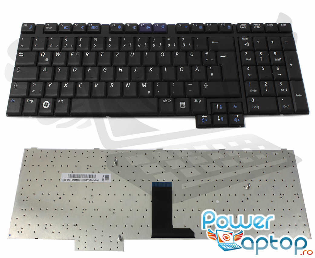 Tastatura Samsung R700 imagine powerlaptop.ro 2021