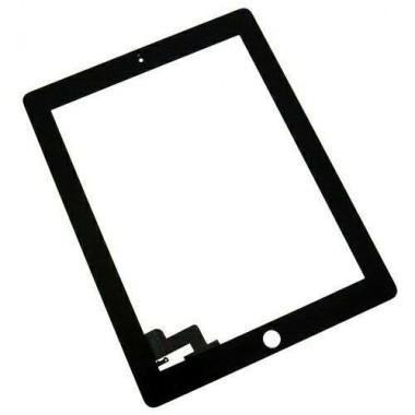 Digitizer Touchscreen Apple iPad 2 A1395 A1396 cu adeziv Negru. Geam Sticla Tableta Apple iPad 2 A1395 A1396 cu adeziv Negru