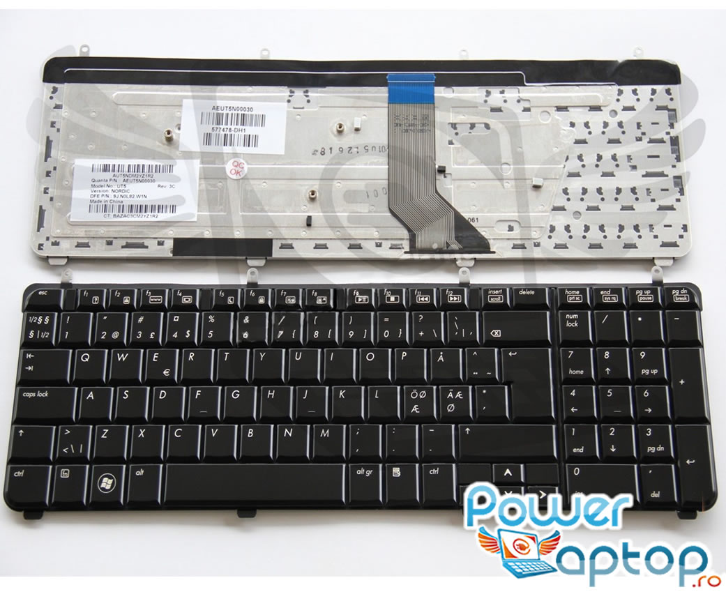 Tastatura HP Pavilion dv7 3030 Neagra imagine