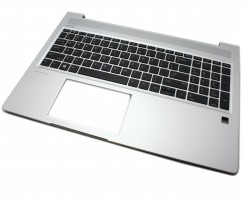 Tastatura HP ProBook 455 G7 Neagra cu Palmrest Argintiu. Keyboard HP ProBook 455 G7 Neagra cu Palmrest Argintiu. Tastaturi laptop HP ProBook 455 G7 Neagra cu Palmrest Argintiu. Tastatura notebook HP ProBook 455 G7 Neagra cu Palmrest Argintiu