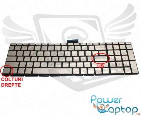 Tastatura HP  15-BW000 Champagne iluminata. Keyboard HP  15-BW000. Tastaturi laptop HP  15-BW000. Tastatura notebook HP  15-BW000