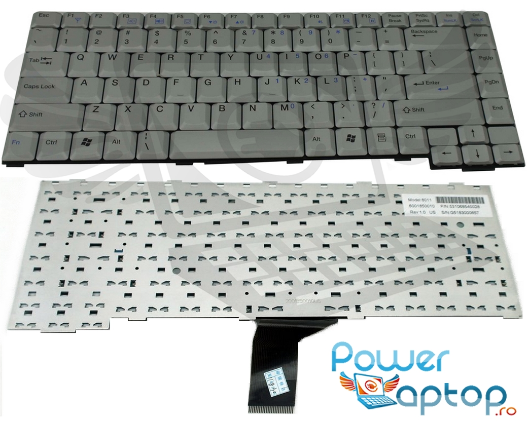 Tastatura Benq Joybook R22 argintie imagine powerlaptop.ro 2021