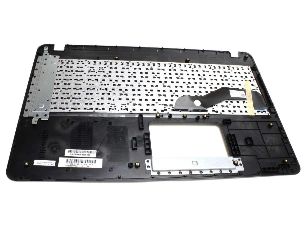 Tastatura Asus F540LA neagra cu Palmrest auriu imagine powerlaptop.ro 2021