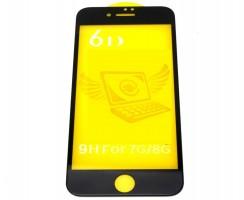 Folie Protectie 6D Apple Iphone 8. Folie Securizata 6D Apple Iphone 8 Neagra