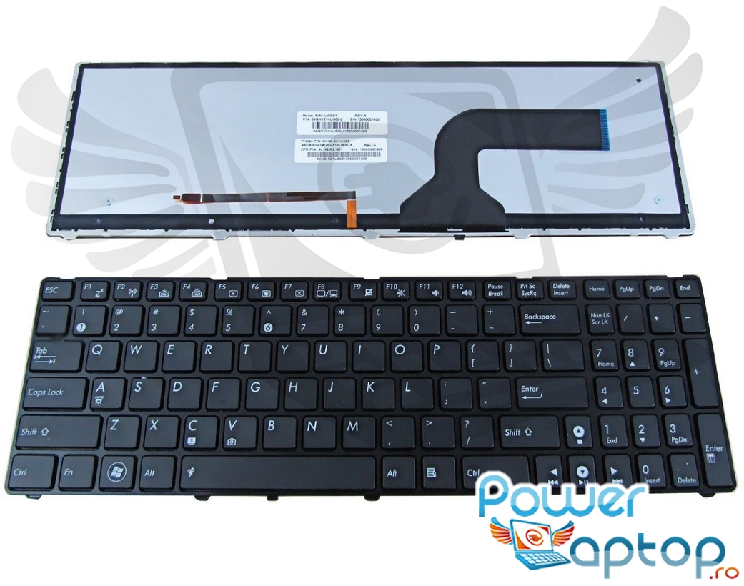 Tastatura Asus K53SC SX140D iluminata backlit imagine powerlaptop.ro 2021