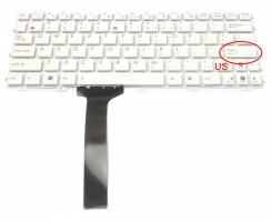 Tastatura Asus Eee PC 1015CX alba. Keyboard Asus Eee PC 1015CX. Tastaturi laptop Asus Eee PC 1015CX. Tastatura notebook Asus Eee PC 1015CX