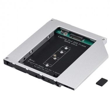 HDD Caddy laptop 9.5mm intern M2 NGFF SSD extern SATA