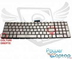 Tastatura HP  15-BW Champagne iluminata. Keyboard HP  15-BW. Tastaturi laptop HP  15-BW. Tastatura notebook HP  15-BW