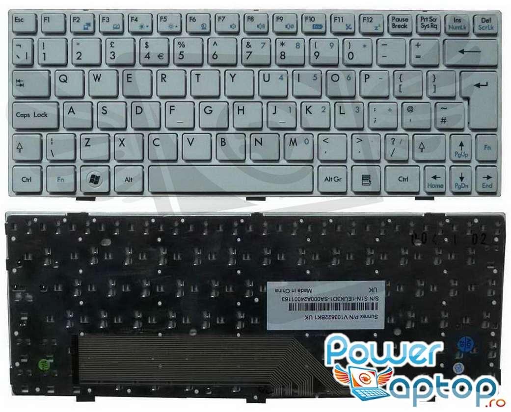 Tastatura MSI Wind U180 alba imagine powerlaptop.ro 2021
